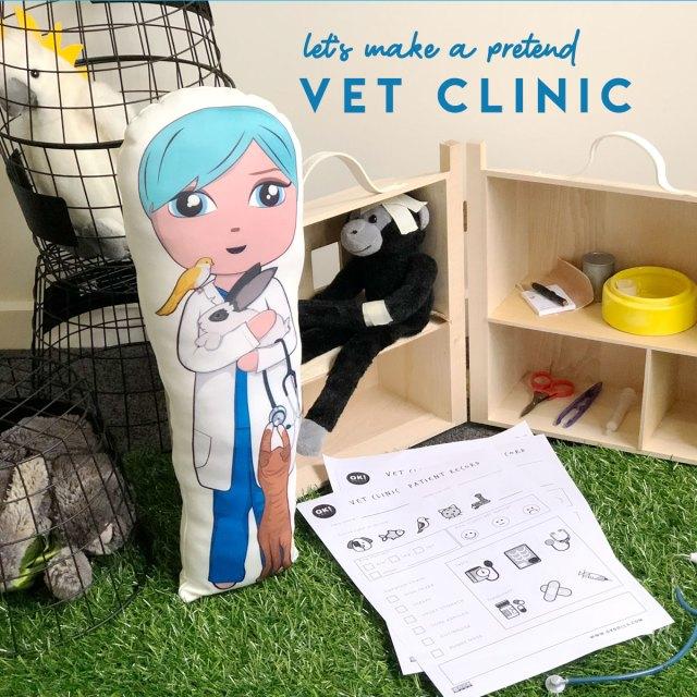 free kids activity vet clinic printable STEM activity
