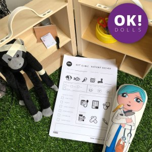 Kids Vet Clinic Pretend Play activity and printable