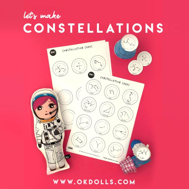 Make your own DIY Constellation projector, easy space themed activity for kids | OK!Dolls