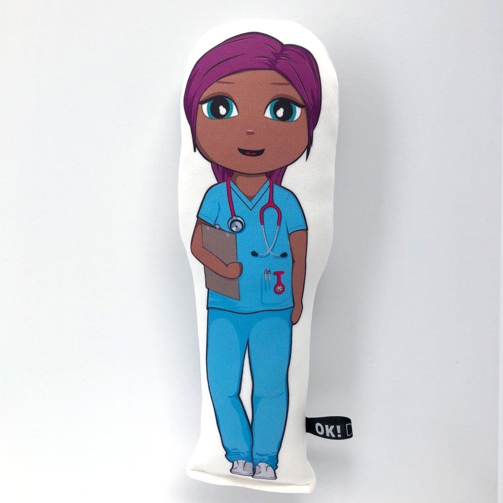 Nadia Nurse doll chocolate skin tone