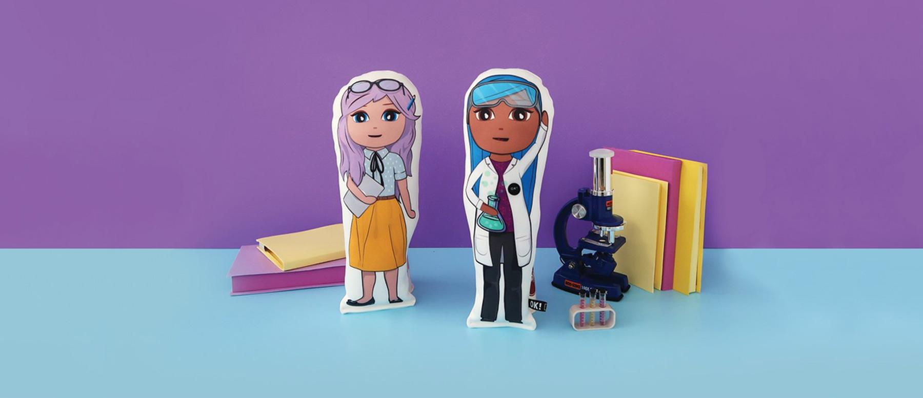 OK!Dolls Fabric Doll - Teacher & Scientist