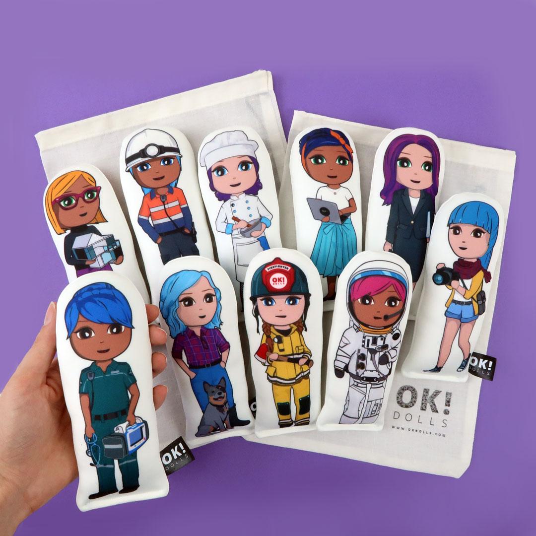 OKMini Set of 10 plush dolls