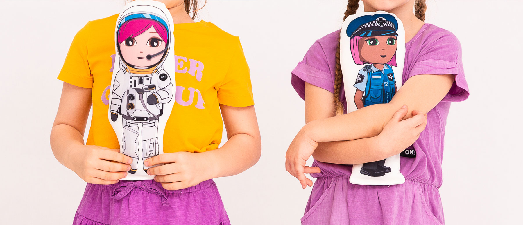 OKDoll Astronaut and Police Officer dolls