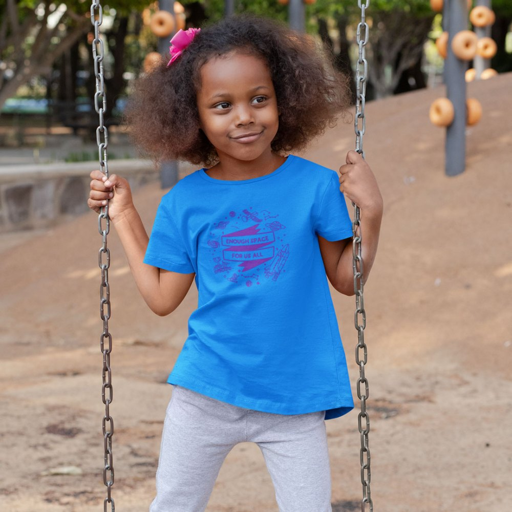 enough space for us all Kids Tshirt by okdolls