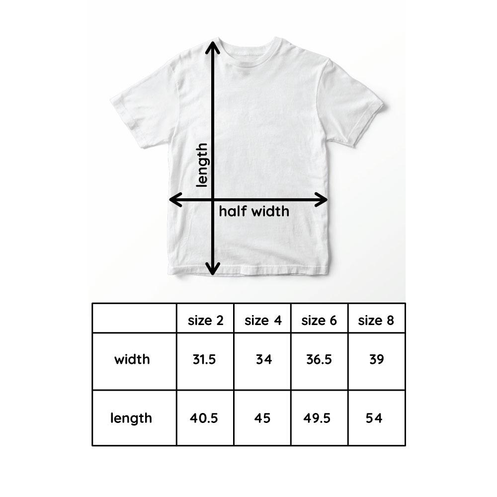 okdolls tshirt size chart
