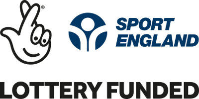 Image: Sport England / Lottery funded logo