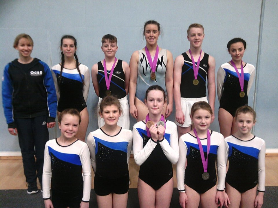Image: Okehampton Flyers Jan 2019 Bath regional team