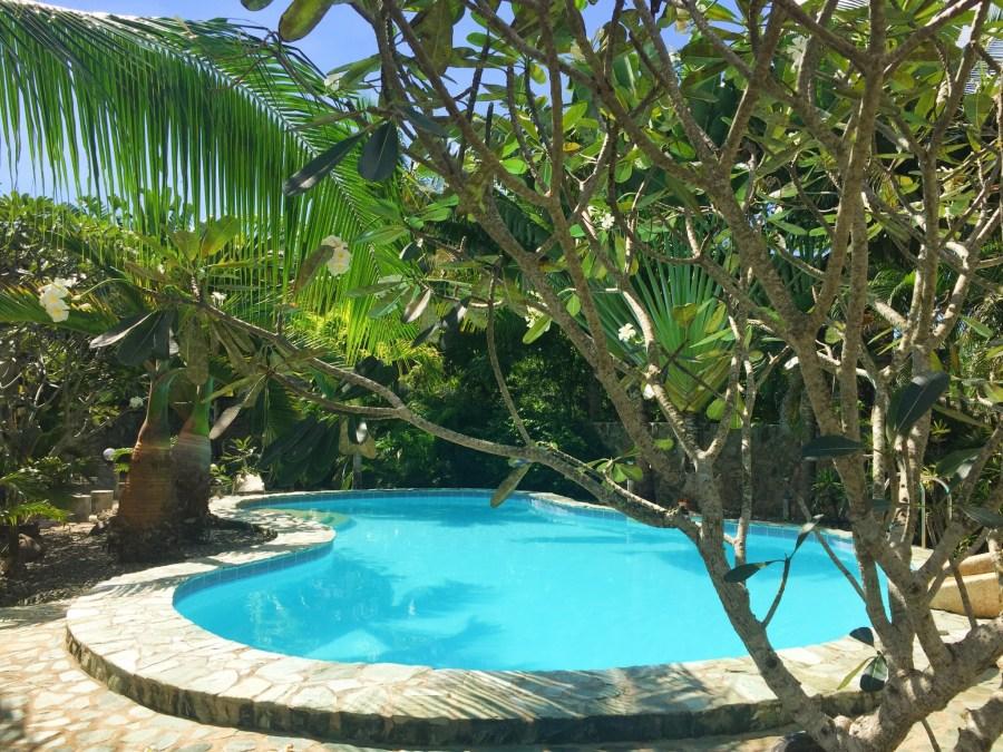 Pool at Alona Swiss Resort, Philippines.