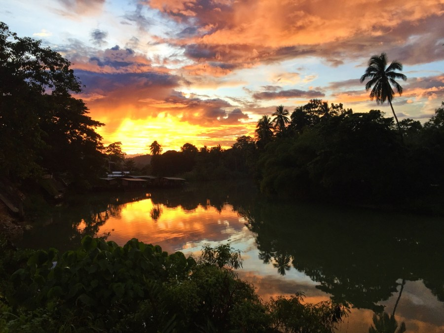 Sunset over the Loboc River.