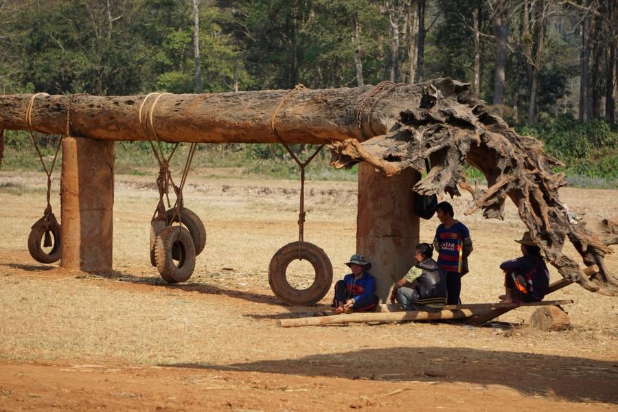 mahouts, Elephant Nature Park, Thailand, break time, shade