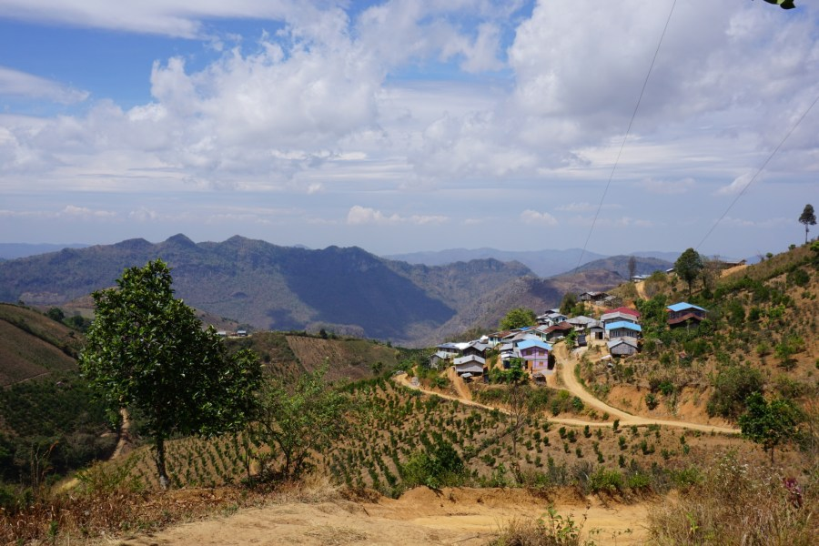 Palaung tribe village.