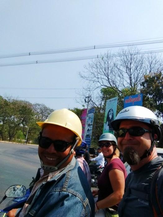 Motorbike tour of Mandalay, Myanmar, locals tour, motorbikes