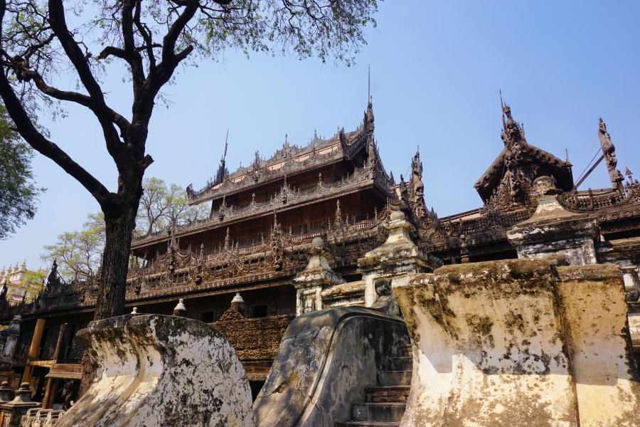 Shwenandaw Monastery, Mandalay, Myanmar. religion, Buddhist, Mandalay Hill