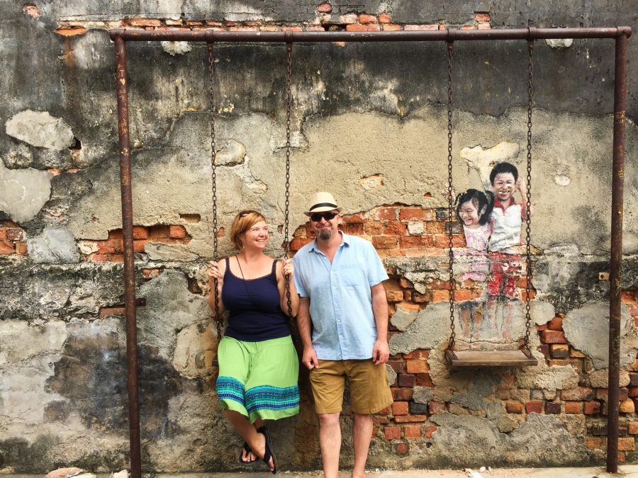 3D mural in Penang, Malaysia, street art, Southeast Asia, backpacking