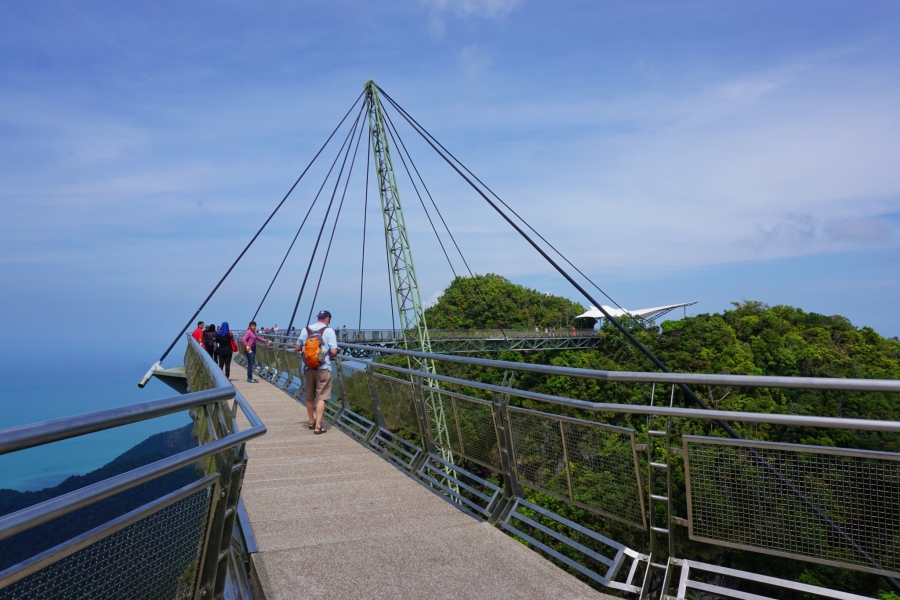 Langkawi sky bridge, Malaysia, sea views, backpacking, islands