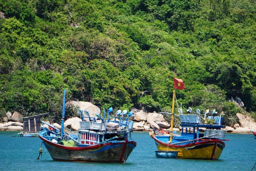 Vinh Hy Bay, Vietnam, fishing village, boats, paradise