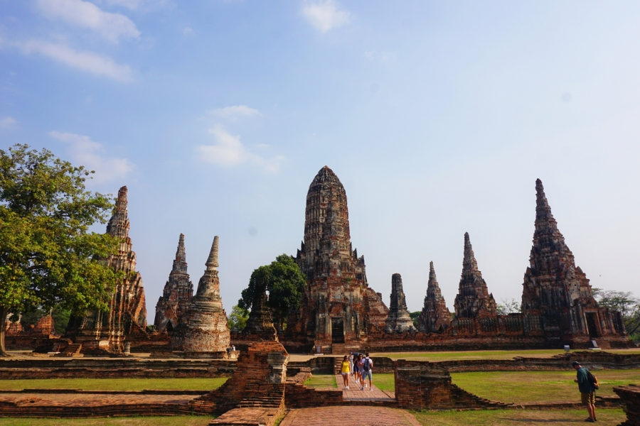 Wat Chaiwatthanaram, Ayutthaya, Thailand, ancient, ruins, temples
