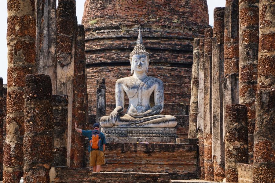 Wat Sa Si, Sukhothai, Thailand, temple, ruins, Southeast Asia, Buddhism