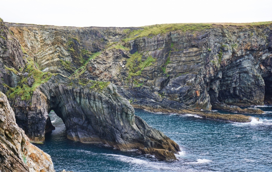 Mizen Head had a natural arch carved by the tides.