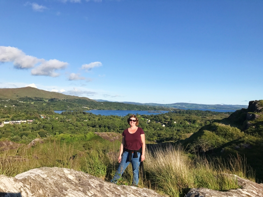 Lady Bantry's Viewpoint, overlooking the tosn of Glengariff, Ireland.