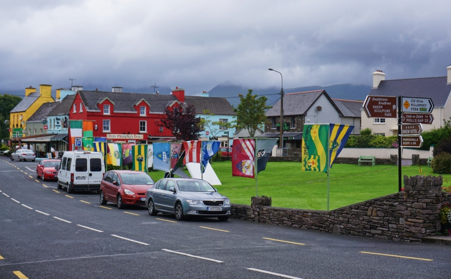Sneem is a colorful town on the Ring of Kerry in Ireland