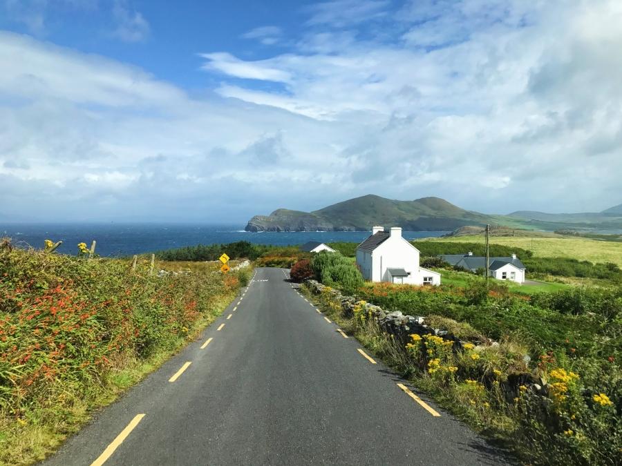 Valentia Island views from our campervan, Ireland.
