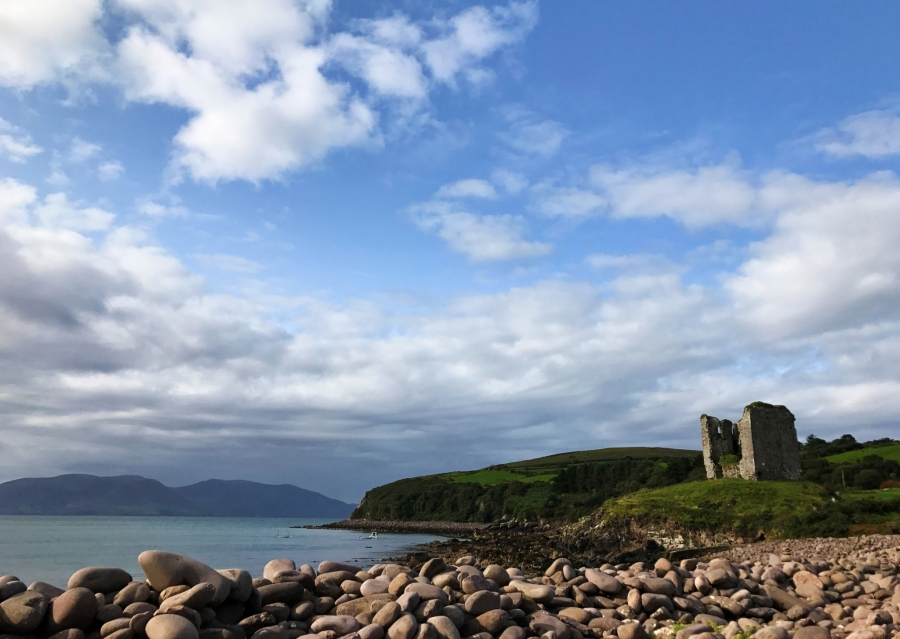 Minard Castle is another ruin to check out along the Wild Atlantic Way in Ireland.
