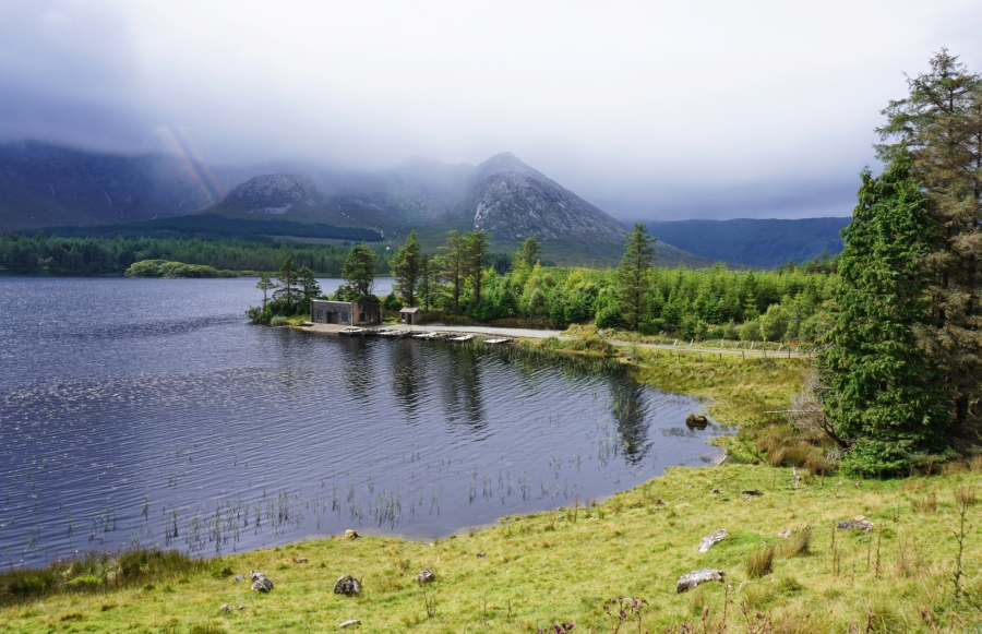 Lough Inagh in Connemara, Ireland provided mist shrouded views.