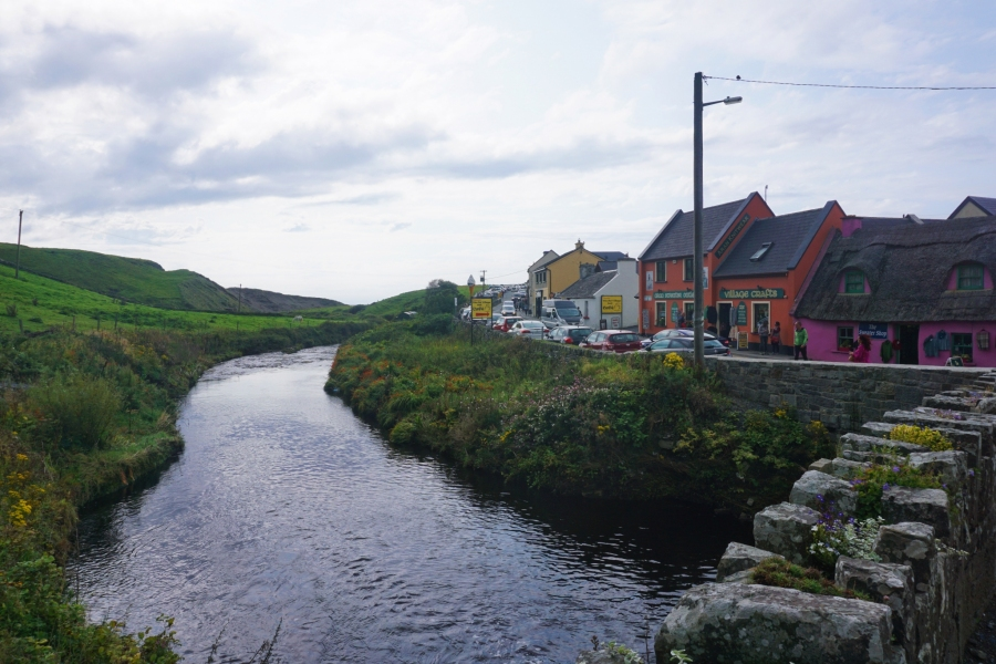 The small town of Doolin, Ireland is known for it's music culture and as the gateway to the Cliffs of Moher.