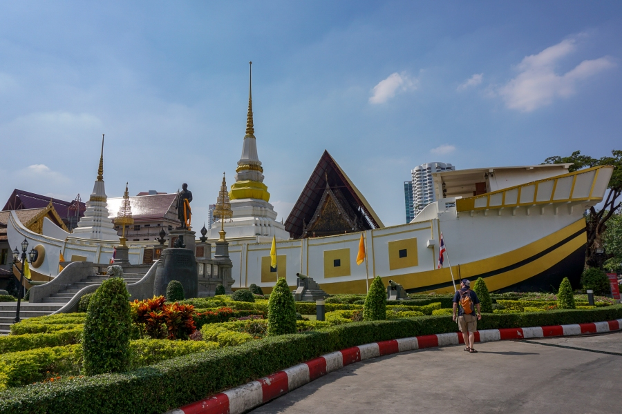 Wat Yannawa on Charoen Krung Rd, is a must see spot in Bang Rak, Bangkok.