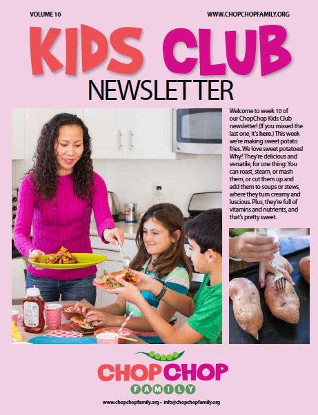 ChopChop Kids Club Newsletter – Week 10