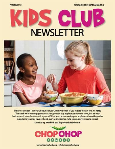 Chop Chop Newsletter – Week 12