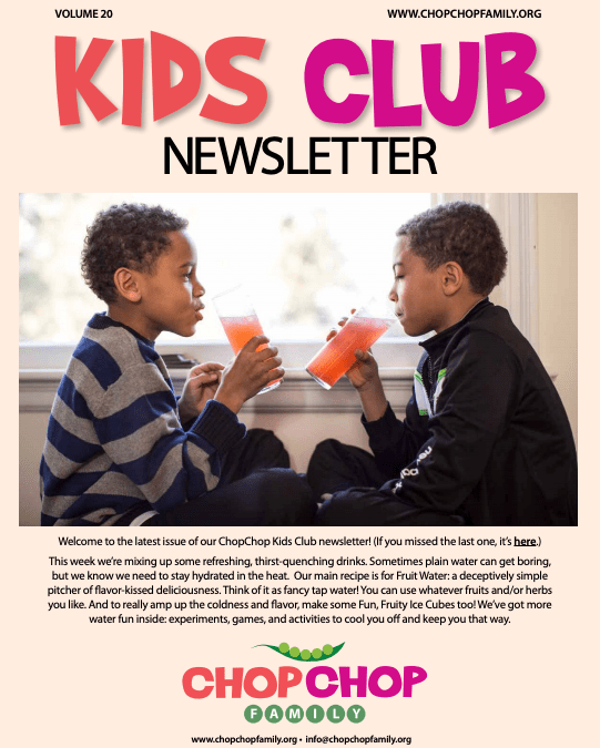 Chop Chop Newsletter – Week 20