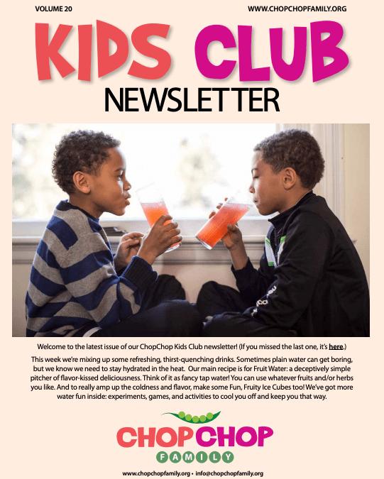 Chop Chop Newsletter – Week 20