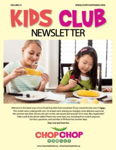 ChopChop Newsletter - vol 17