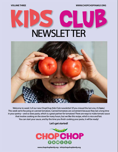 ChopChop Kids Club newsletter – Week 3
