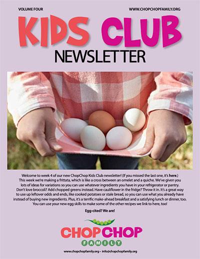 ChopChop Kids Club Newsletter – Week 4