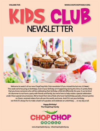 ChopChop Kids Club Newsletter – Week 5