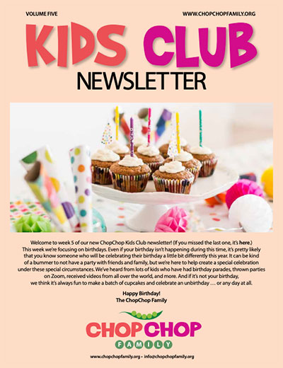 ChopChop Kids Club Newsletter – Week 5