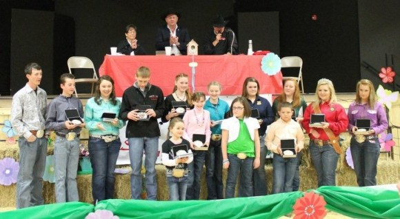 The McCurtain County Spring Livestock Show showmanship winners - where hard work comes from.
