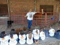 Brandon Webb talks about animal safety with the students.