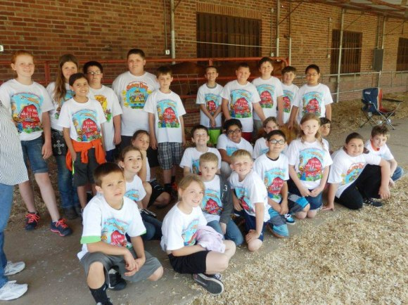 Fourth grade students from Canton at the Blaine County Conservation District's Farm Safety Day.