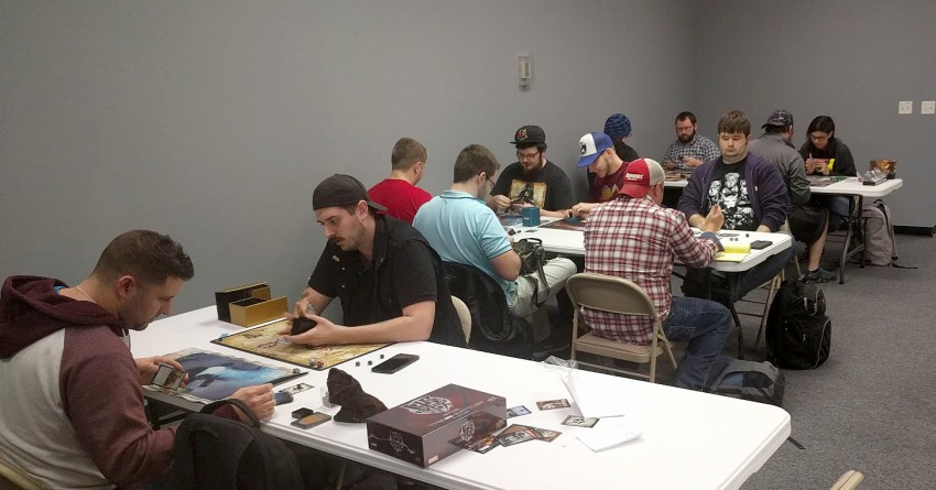 Magic players at Storm Brew.