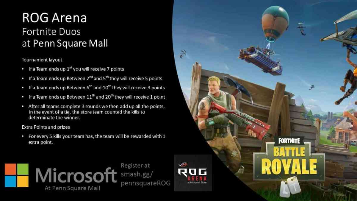 Fortnite Tournament at Microsoft Penn Square Mall