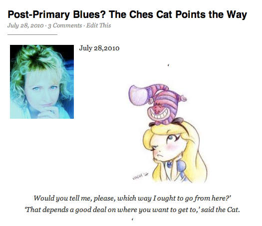 Post-Primary Blues?  The Ches Cat Points the Way