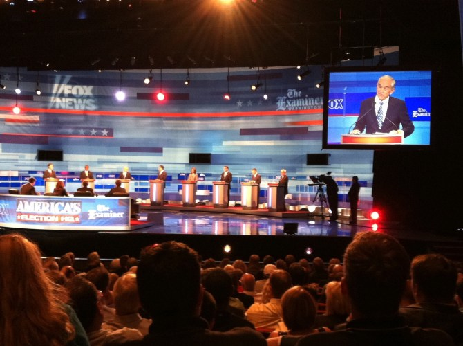 Flyer Circulated at Recent Presidential Debate in Ames Iowa — Photos via Chris Rye