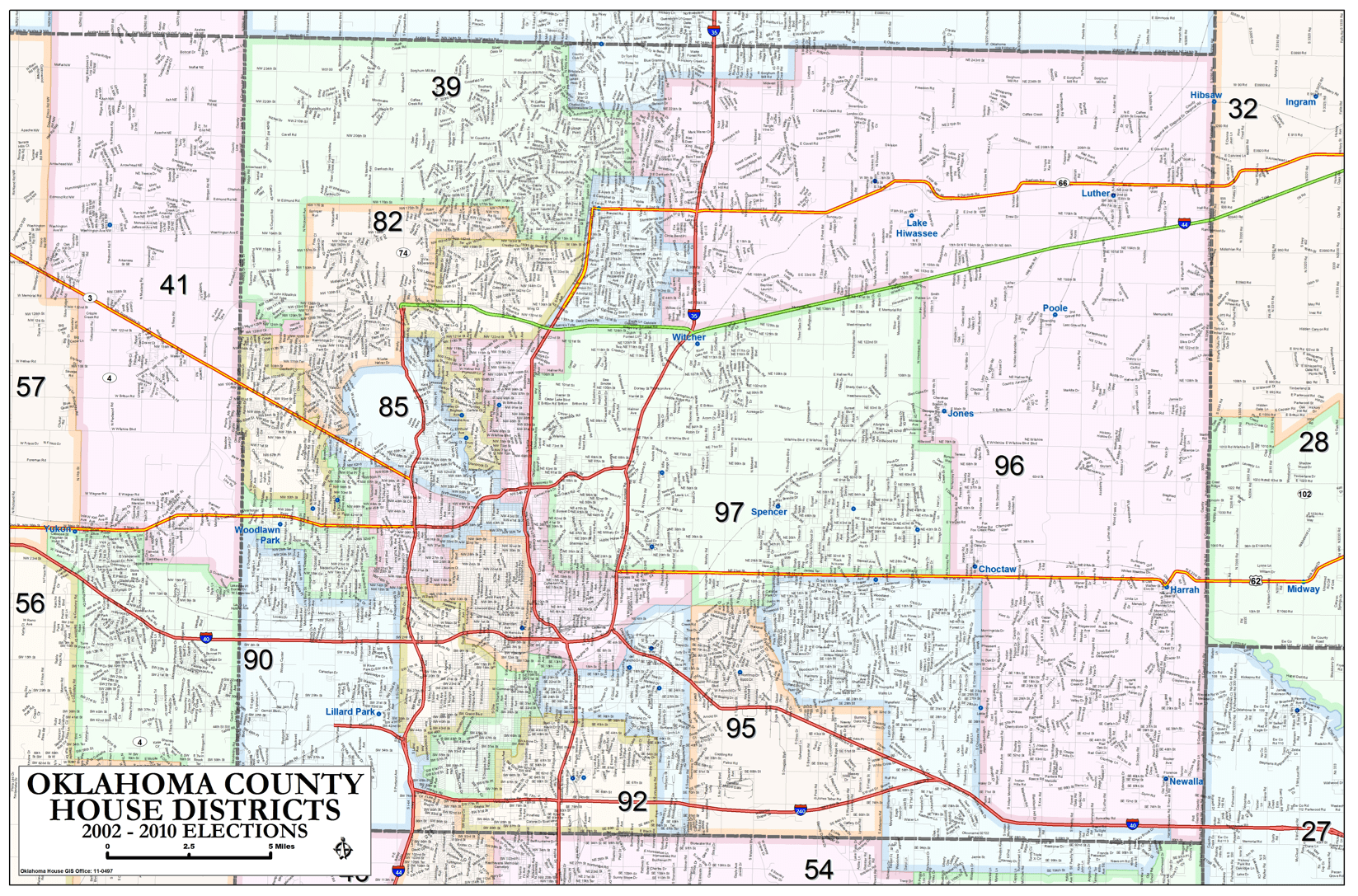 Oklahoma County House Districts Metro Area Map OKG News - Oklahoma county map