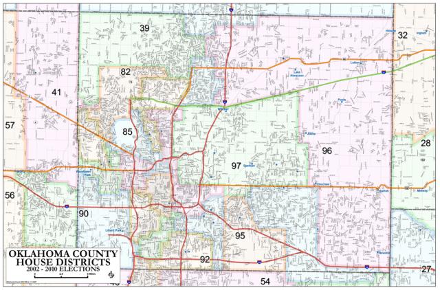 Oklahoma County House Districts Metro Area Map OKG News - Oklahoma us senator map