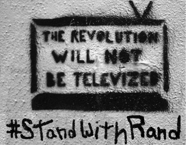 Watching the Real Debate at the Faux Debate - #RandRally trending