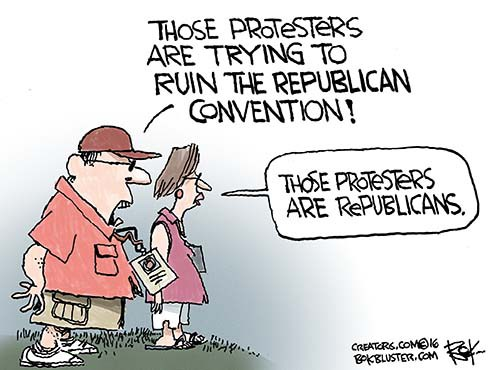Republican Convention Protesters